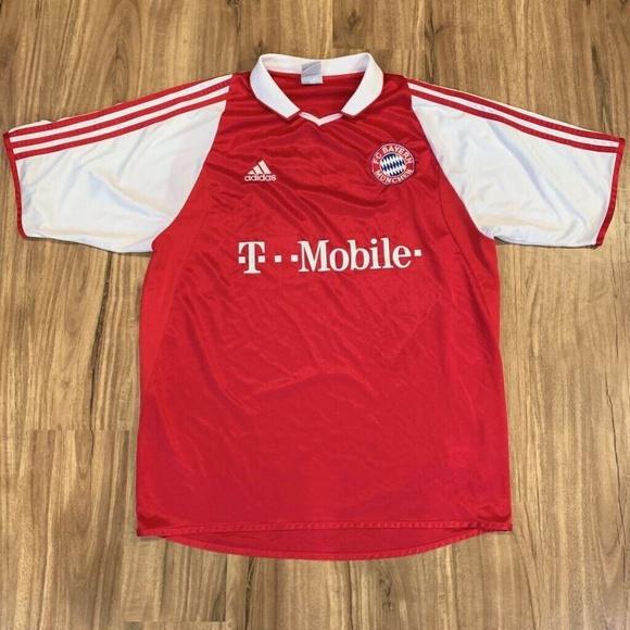 FC Bayern Munich Adidas Mens Jersey Red White Shor